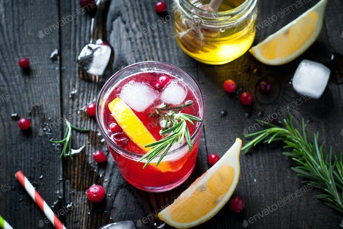 Ice cranberry drink