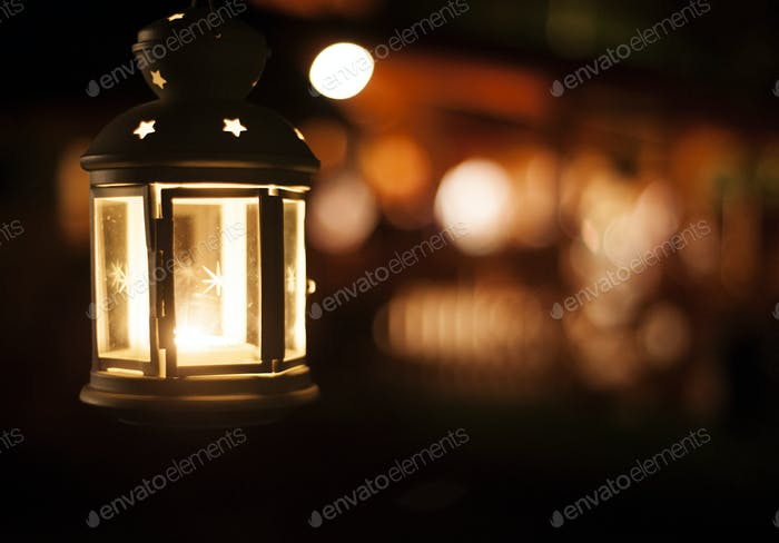 Lantern in night