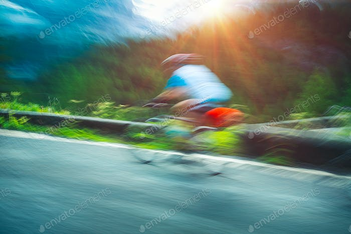 Thumbnail for Cyclist in motion