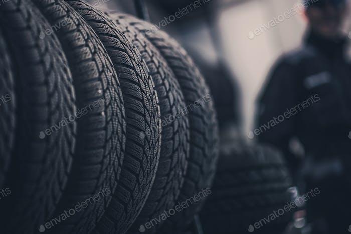 Winter Season Tire Tread