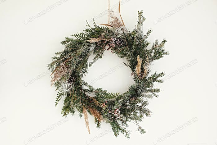 Christmas rustic wreath.