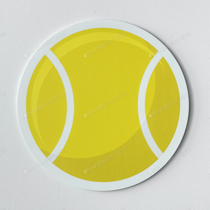 Cut out tennis ball graphic