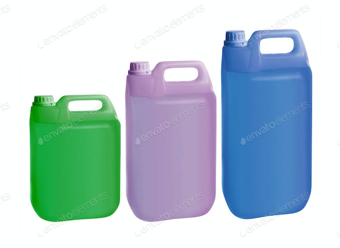 plastic jerry can isolated