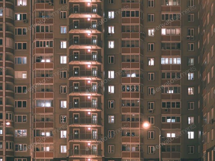 Apartment building in night