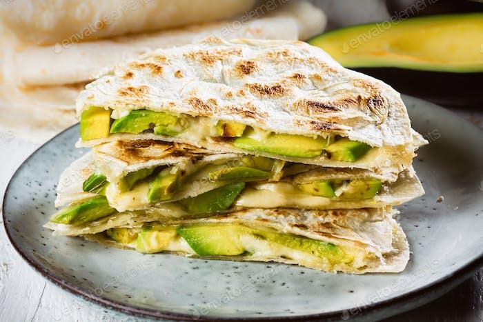 Mexican avocado quesadilla