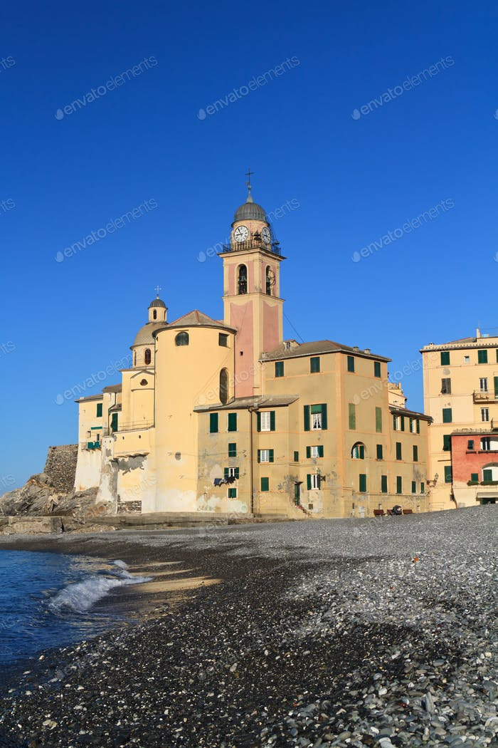 Camogli, seaside and church