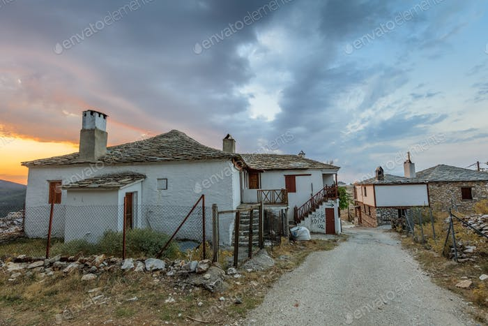 Traditional houses in Kastro village, Greece