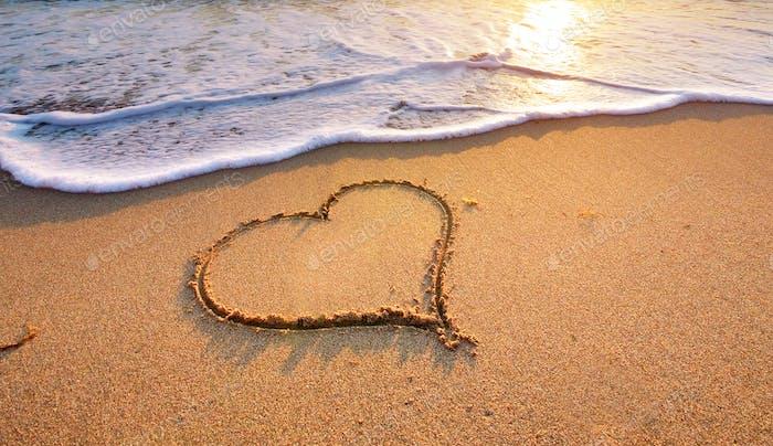 Corazón en la Playa