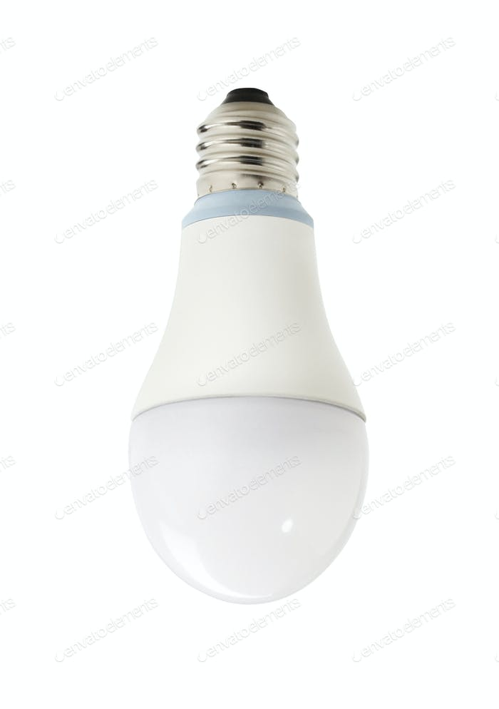 Light bulb on white background