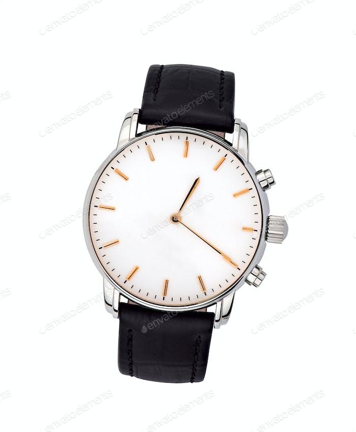 Uhren auf weißem Hintergrund