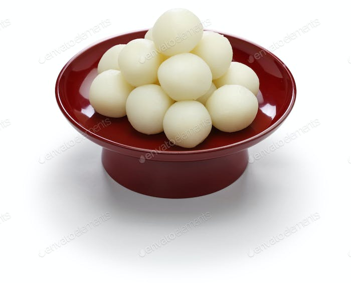 Tsukimi Dango, traditional  japanese rice dumpling for moon viewing event