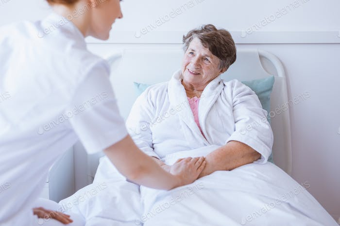 Krankenschwester und der Patient