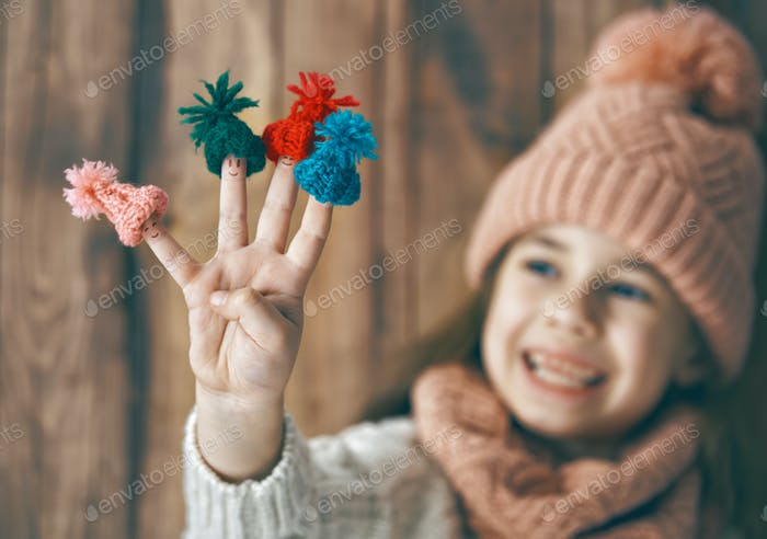 Thumbnail for Winter portrait of little girl
