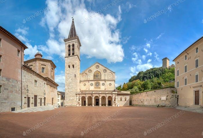 Piazza del Duomo in Spoleto, Italy