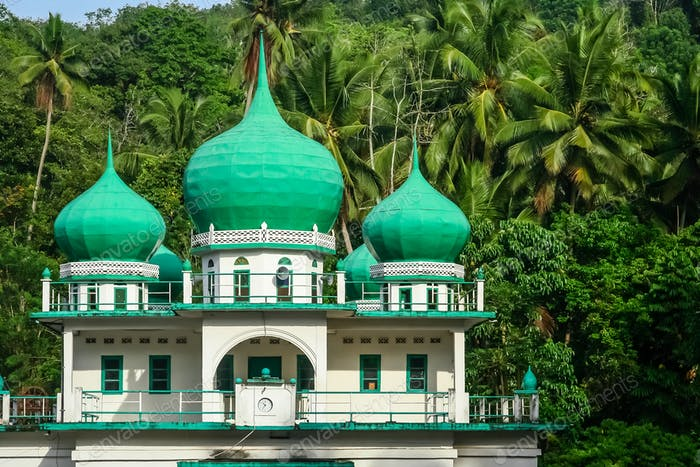 Small mosque in the jungle in Sumatra