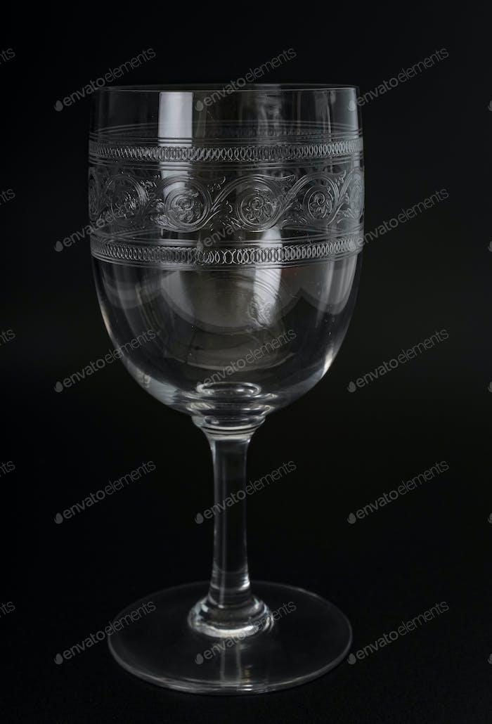 drinking glass in studio