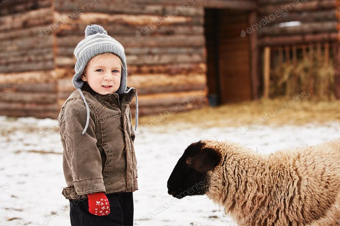 Boy on the farm
