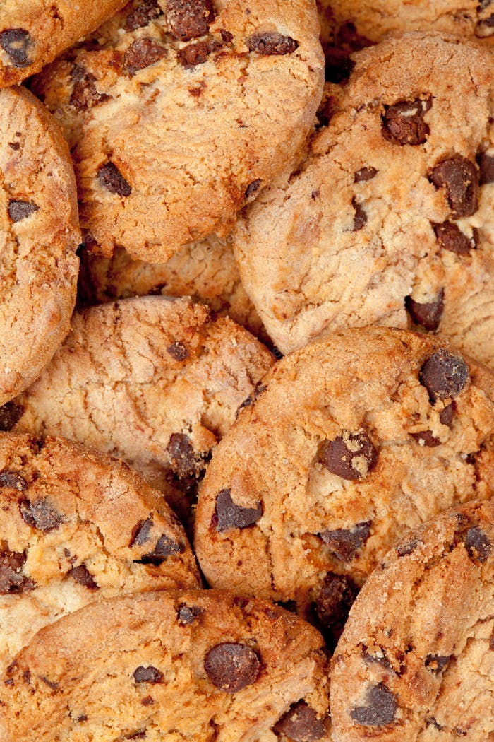 Close up of many cookies laid out together