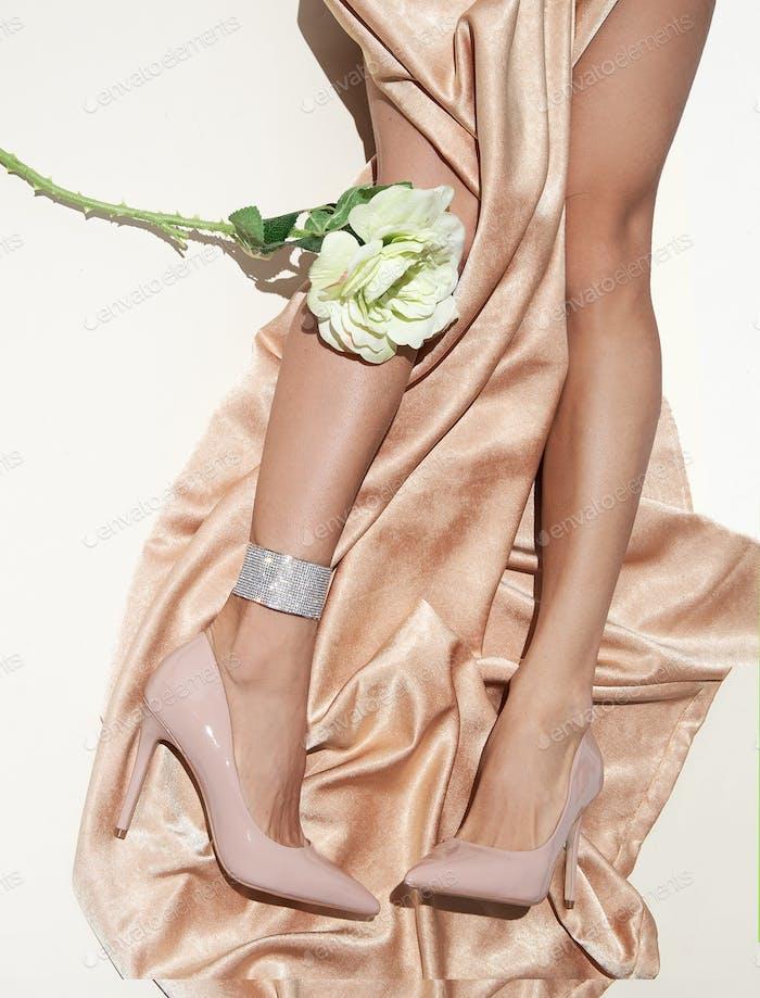Girl sensual legs in shoes