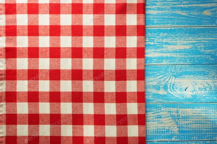cloth napkin on wood