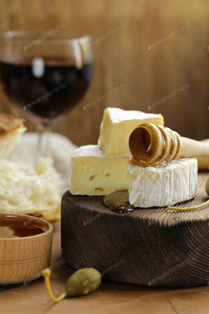 Brie Cheese with Honey