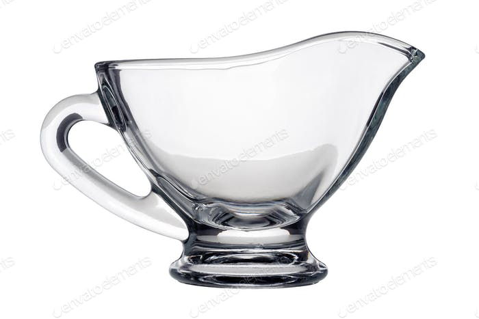 Single glass gravy boat