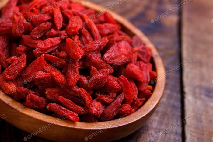 Goji berries in a bowl