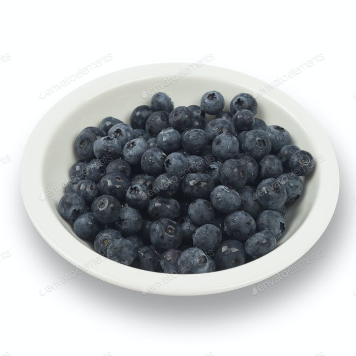 Blueberry isolated on white background including clipping path