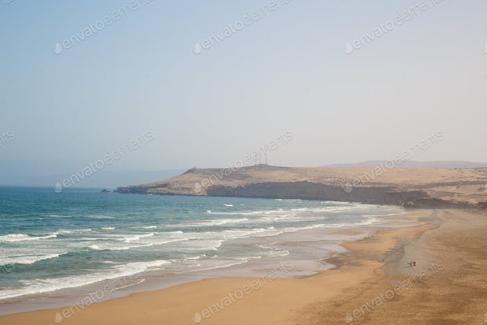 Atlantic ocean coastline in Morocco