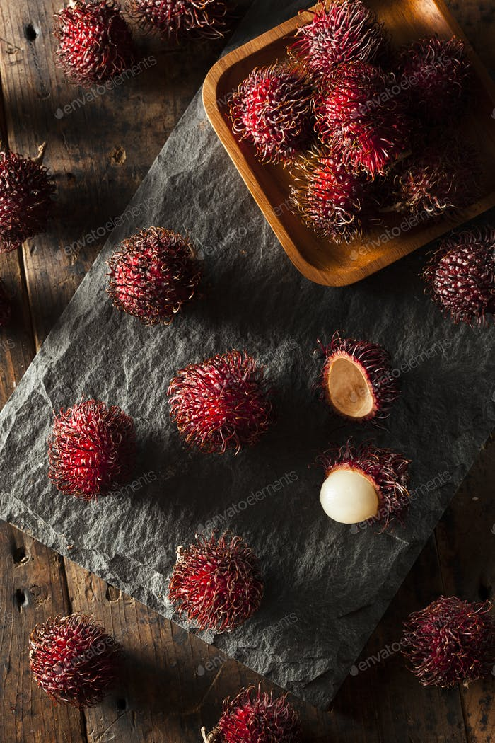 Fresh Organic Tropical Rambutan