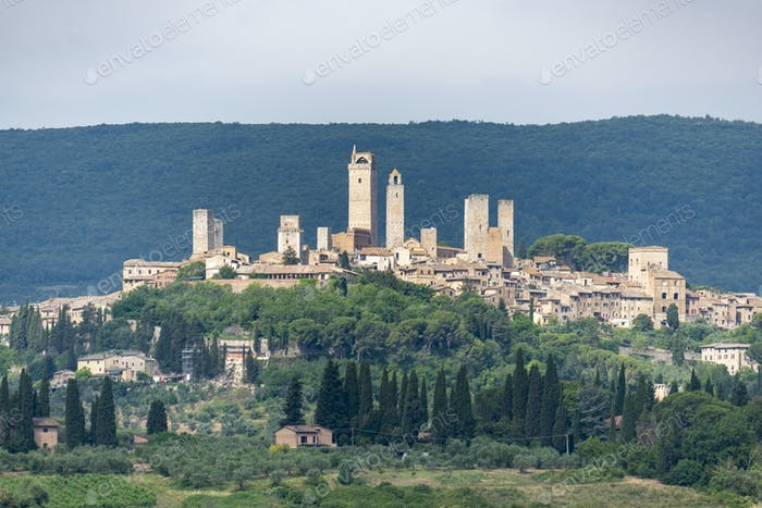 San Gimignano, Tuscany, panoramic view