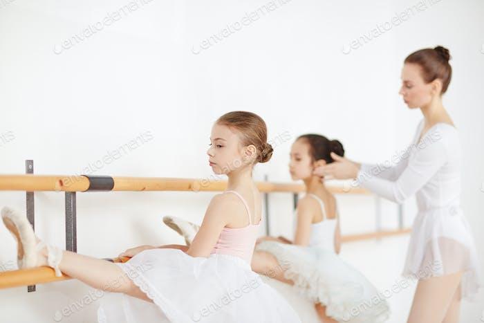 Lesson of ballet
