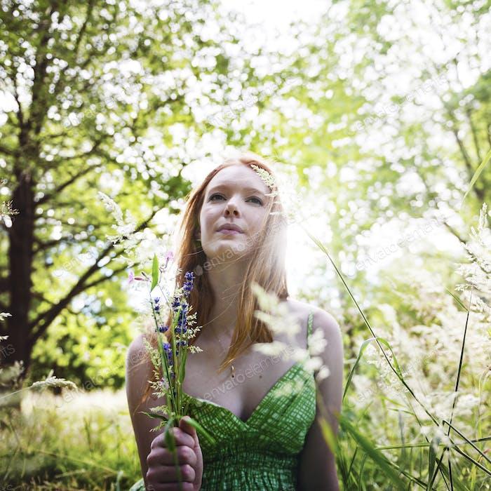 Girl Nature Minimal Outdoor Summer Teen Concept