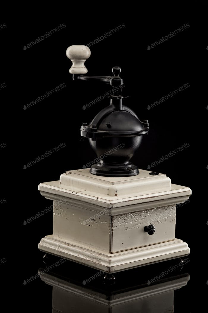 old hand a coffee grinder
