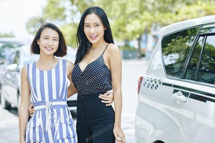 Asian women in the city