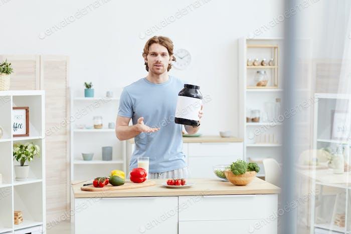 Man advising proper nutrition