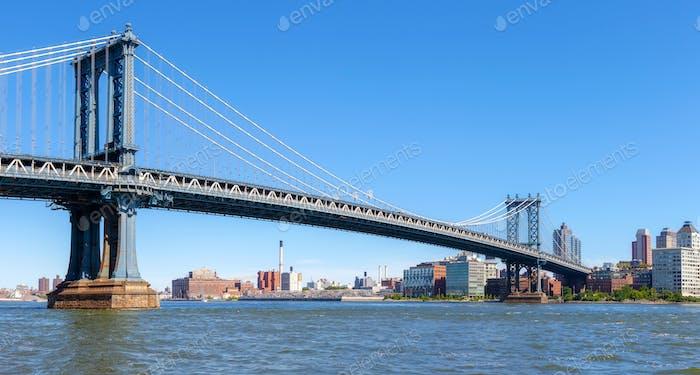 Vista panorámica del Puente de Manhattan, Nueva York.