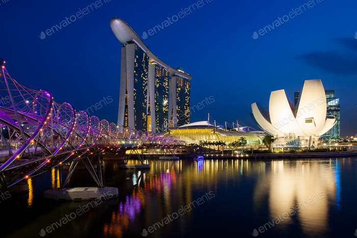 Marina Bay Sands Complex at Night