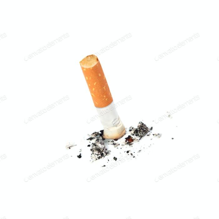 Ausgelöschte Zigarette