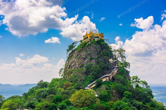Mt. Popa in Myanmar