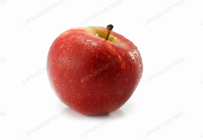 red apple is isolated
