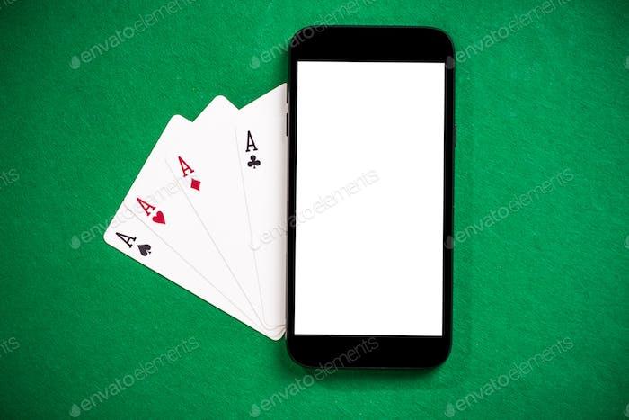 Jugar juegos de casino y póquer en el teléfono Móvil