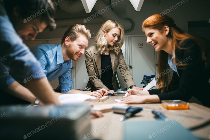 Group of designer working on project