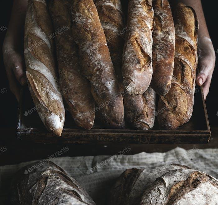 Close up of baguettes photography recipe idea