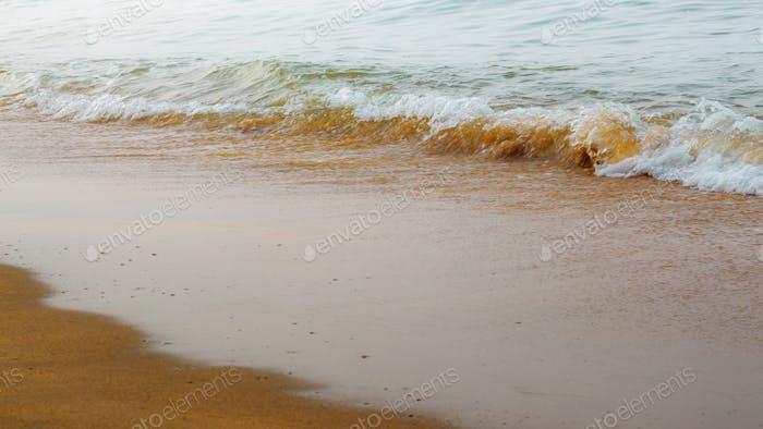 Beach and sea waves