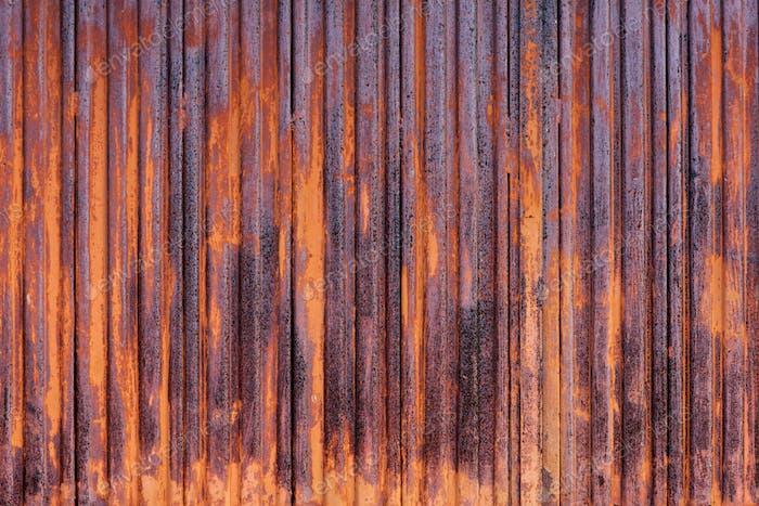 Close up rust wall