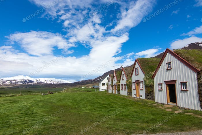 The old Laufas farm in Iceland