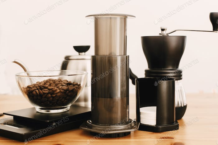 Alternative Kaffeebrühmethode Set