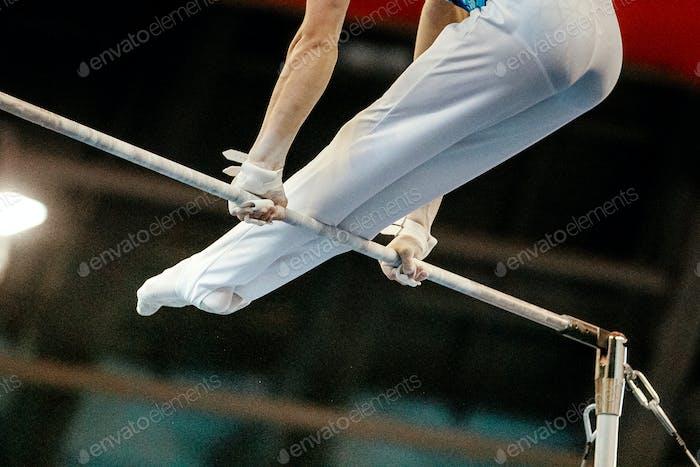 high bar male gymnast