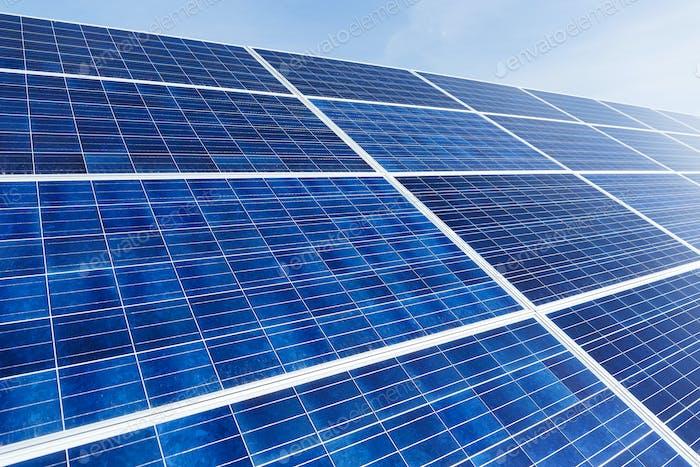 Solar panel under sunny day